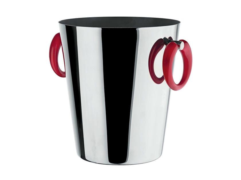 Stainless steel ice bucket LITTLE POP - MOON BAR | Stainless steel ice bucket by Alessi