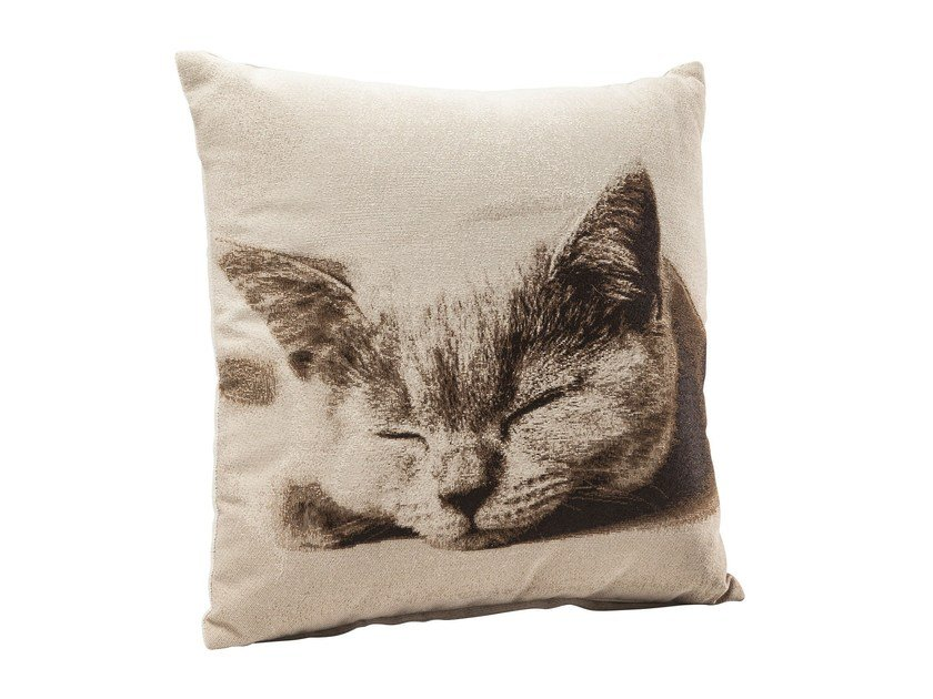 Square fabric cushion LITTLE PUSSY CAT by KARE-DESIGN