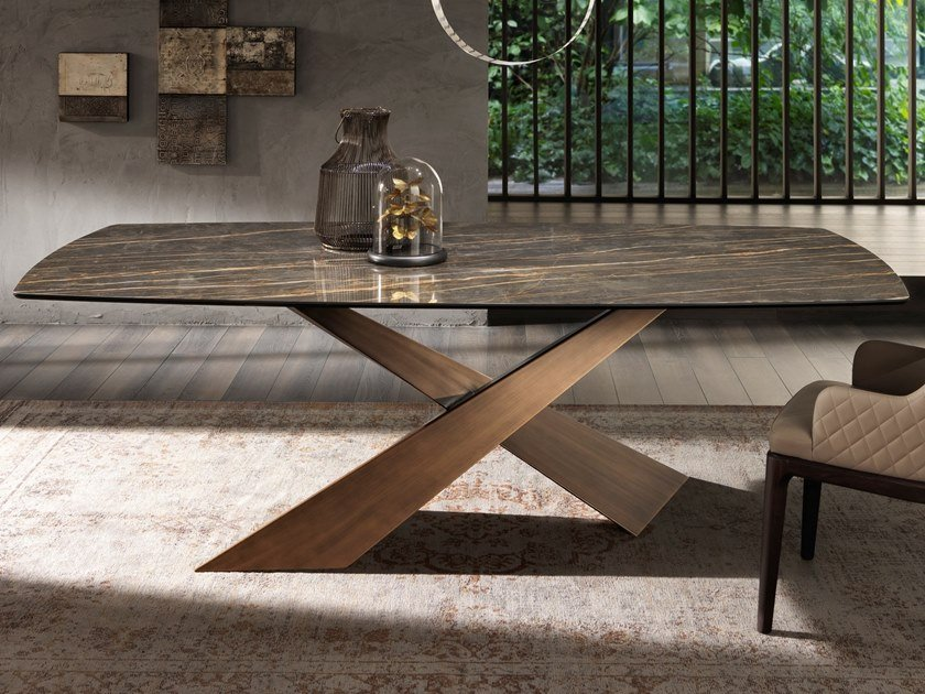 Rectangular table LIVING | Ceramic table by RIFLESSI