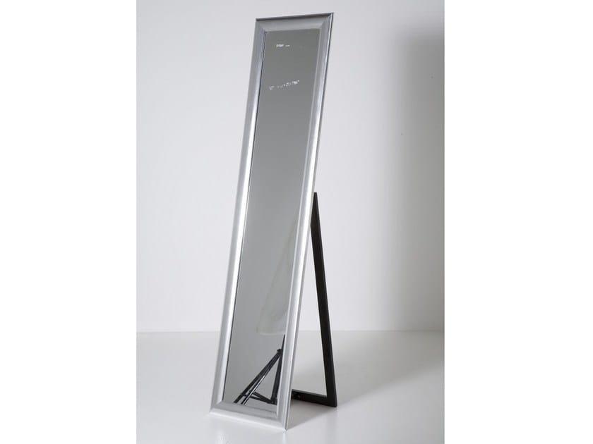 Freestanding rectangular framed mirror LIVING SILVER by KARE-DESIGN