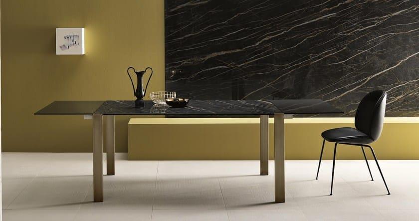 Livingstone Design Allungabile Tavolo Ceramic In Tonelli Cristallo Tc3l1JKuF5