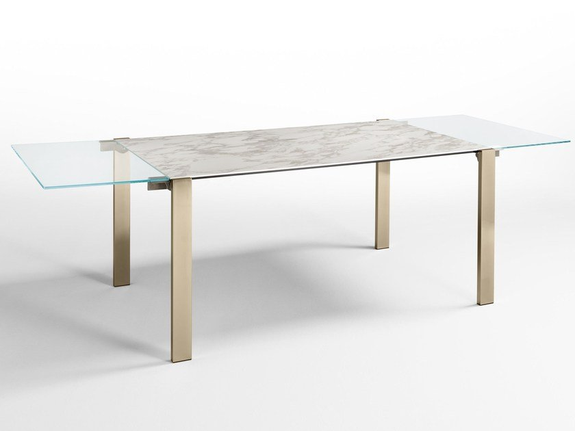 Extending crystal table LIVINGSTONE CERAMIC by Tonelli Design