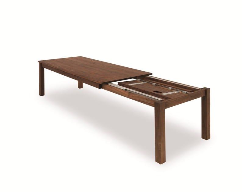 Tavolo allungabile rettangolare in legno massello LIVINGSTONE By ...