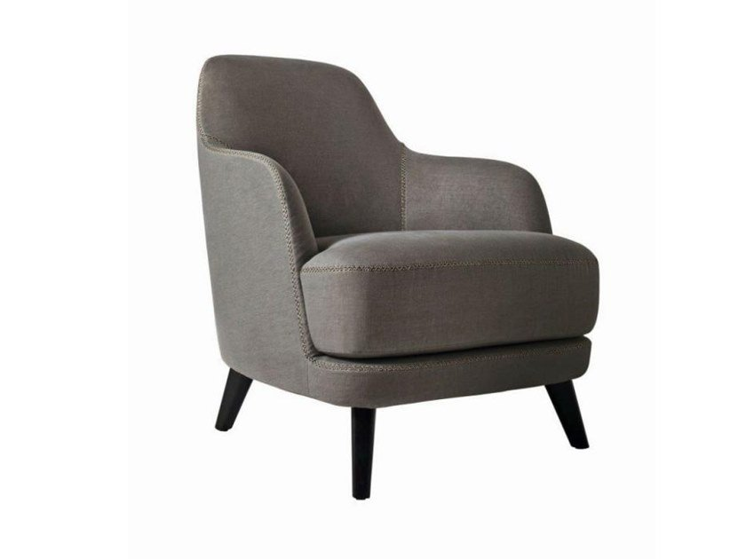 Fabric armchair with removable cover with armrests LIZ by Casamilano