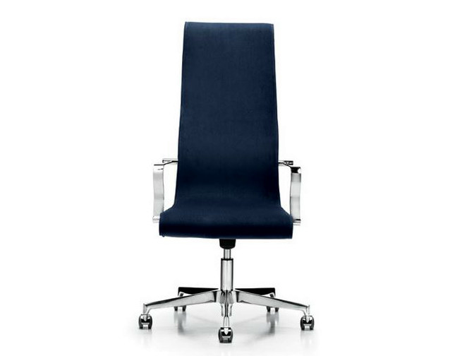 Executive chair with 5-spoke base with armrests LIZ | High-back executive chair by Diemme