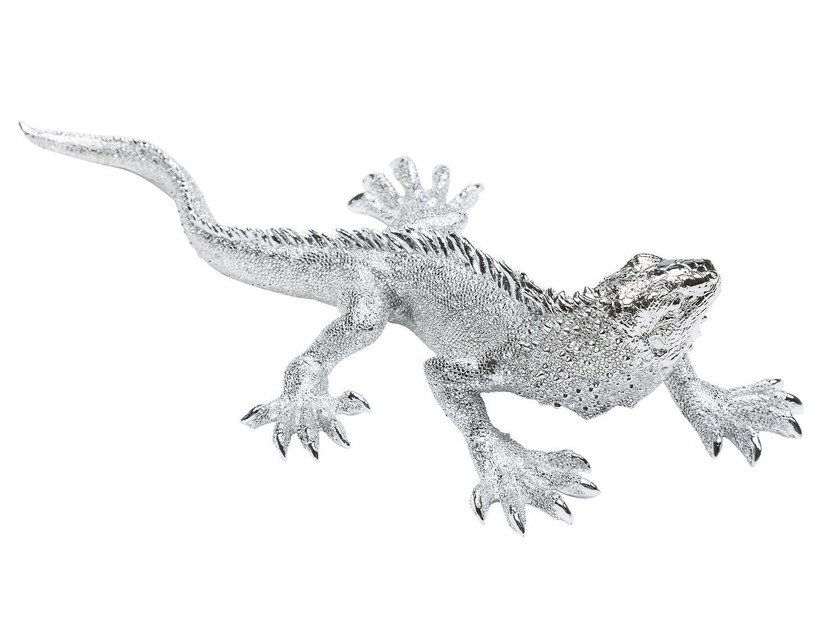 Resin decorative object LIZARD SMALL CHROME by KARE-DESIGN