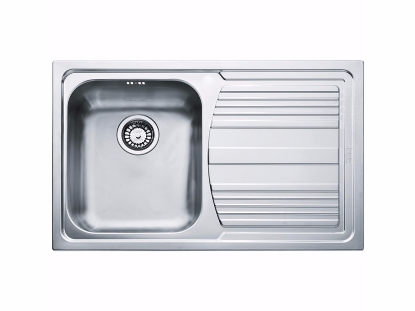 Lavello a una vasca da incasso in acciaio inox con sgocciolatoio LLX ...