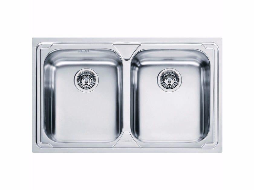 Lavello a 2 vasche da incasso in acciaio inox LLX 620 By FRANKE