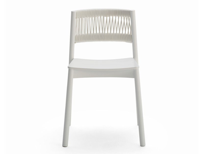 Stackable open back beech chair LOAD | Chair by BILLIANI