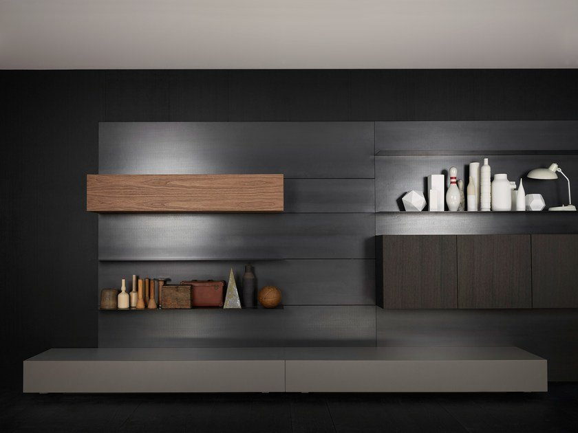 Contemporary style wall-mounted sectional bookcase LOAD-IT | Bookcase by Porro