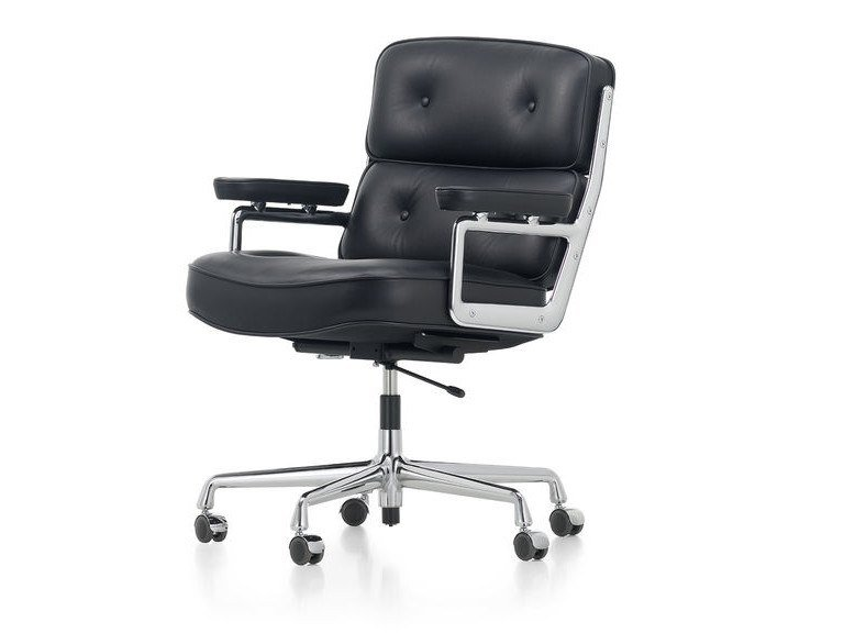 Cadeira executiva giratória de pele LOBBY CHAIR ES 104 by Vitra
