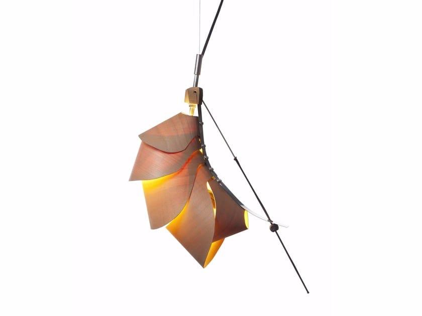 Handmade laminated veneer lamp LOBSTER by Yoav Shavit Studio