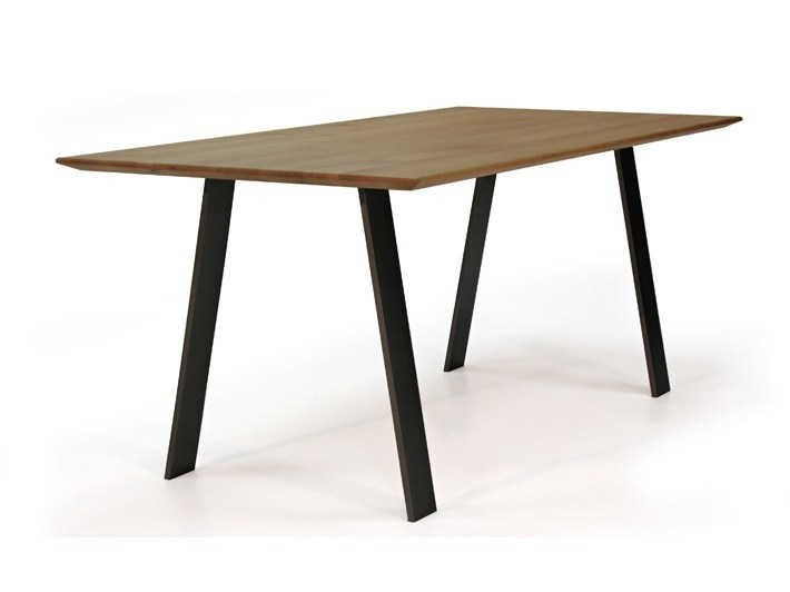 Rectangular steel and wood table LOCAL STEEL by ZinX