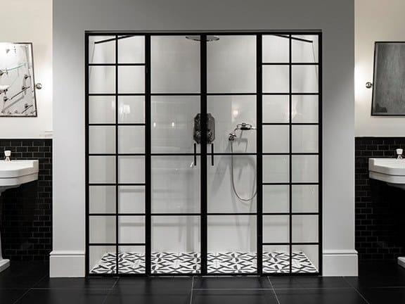 Niche glass and aluminium shower cabin LOFT by Devon&Devon