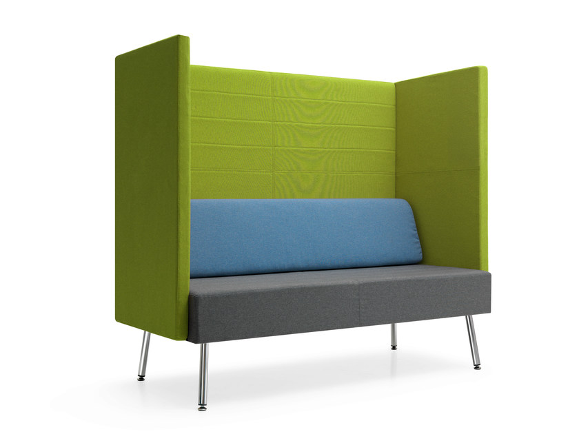 Upholstered modular high-back fabric sofa LOFT 2.0 | Sofa by Quinti Sedute