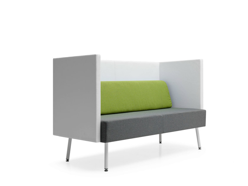 Upholstered modular high-back fabric sofa LOFT 2.0   Leisure sofa by Quinti Sedute
