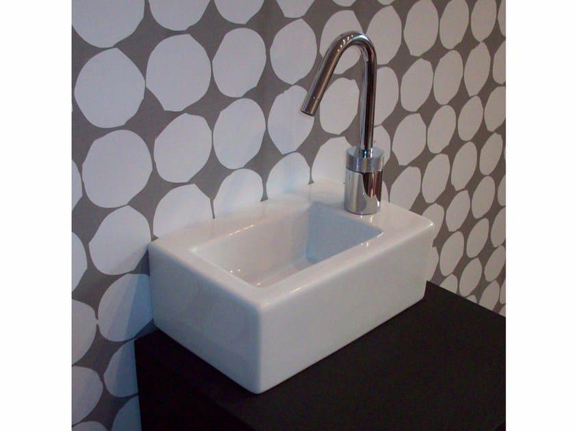 Countertop rectangular ceramic washbasin LOFT | Ceramic washbasin by Hidra Ceramica
