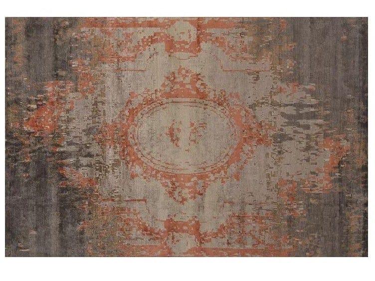 Patterned handmade Bamboo silk rug LOFT L216B by Mohebban