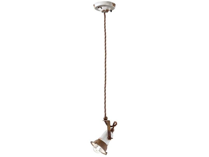 Swivel ceramic pendant lamp LOFT   Pendant lamp by FERROLUCE