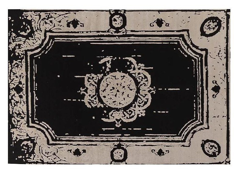 Patterned handmade Bamboo silk rug LOFT S97D by Mohebban