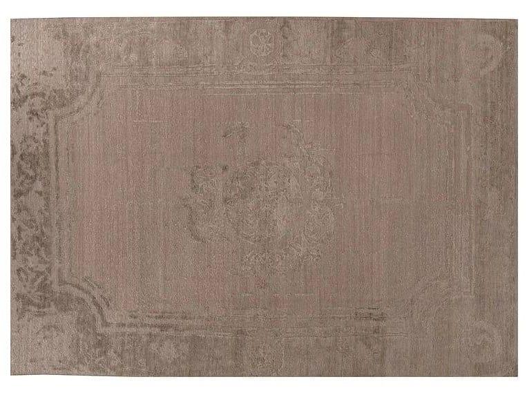 Patterned handmade Bamboo silk rug LOFT S97E by Mohebban