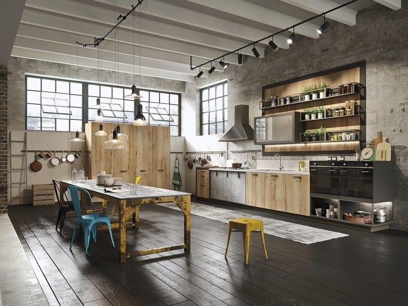 LOFT | Linear kitchen SISTEMA Collection By Snaidero design Michele ...