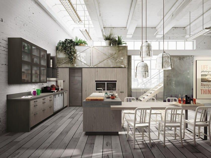 LOFT | Cucina con isola Collezione SISTEMA By Snaidero design ...