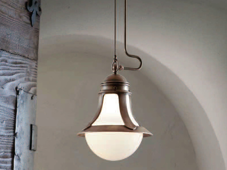 Classic style indirect light metal pendant lamp LOGGIA   Pendant lamp by Aldo Bernardi