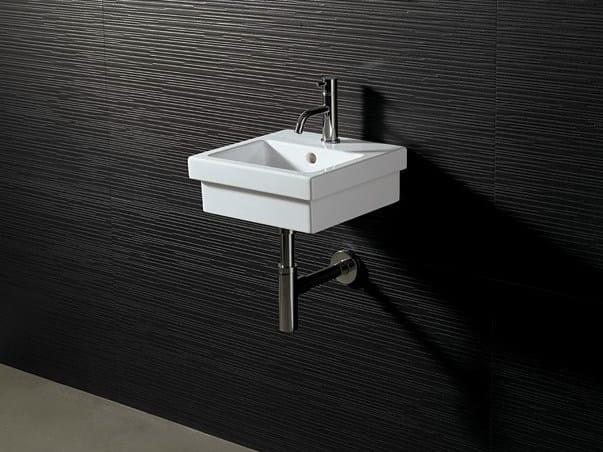 Square ceramic washbasin LOGIC 35X35 by Alice Ceramica