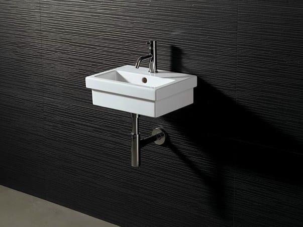 Rectangular ceramic washbasin LOGIC 40X30 by Alice Ceramica