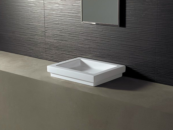 Rectangular ceramic washbasin LOGIC 50X40 by Alice Ceramica
