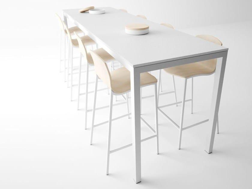 Rectangular high table LOGIC by CANCIO