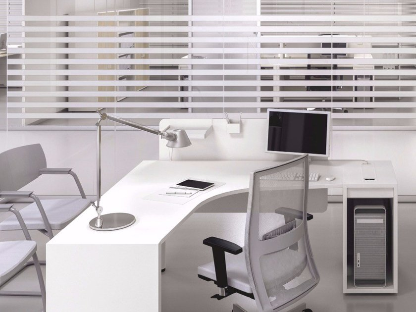 Logic | Eck- Büro-Schreibtisch By Las Mobili