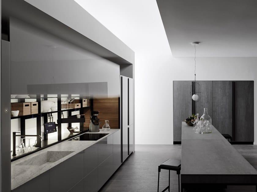 Küche aus Glas ohne Griffe LOGICA CELATA By VALCUCINE Design ...