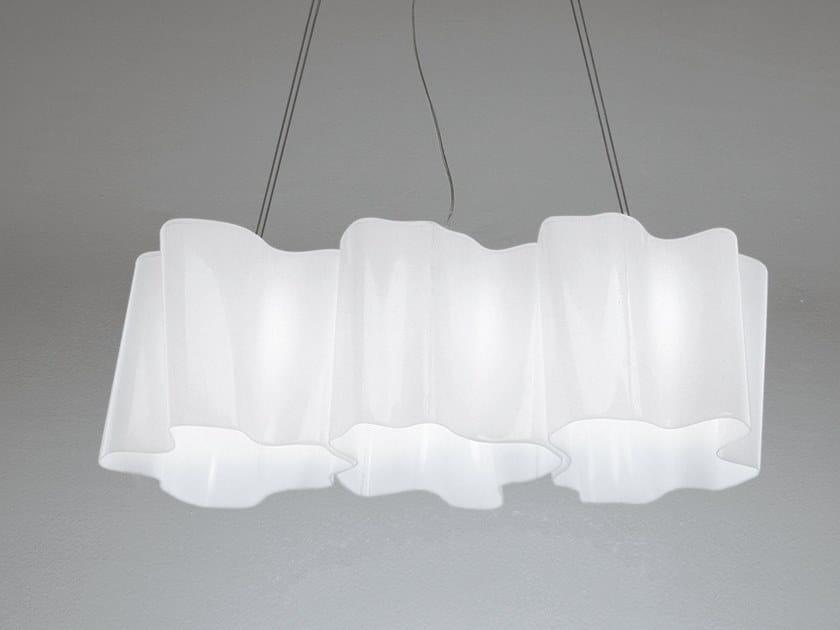 Blown glass pendant lamp LOGICO 3 | Pendant lamp by Artemide