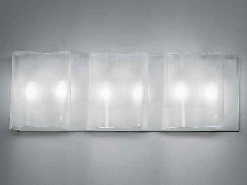 Direct-indirect light blown glass wall lamp LOGICO 3 | Wall lamp by Artemide