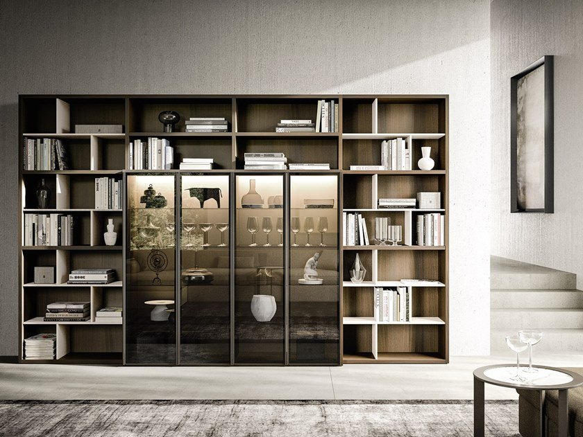 Open sectional bookcase LOGIKO   Bookcase by JESSE
