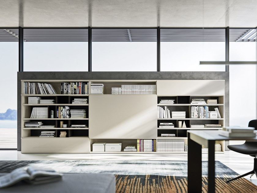 Open sectional bookcase LOGIKO | Open bookcase by JESSE