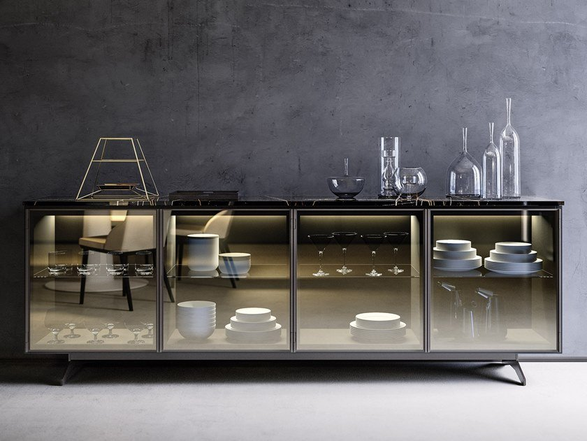Sideboard with integrated lighting LOGIKO | Sideboard by JESSE