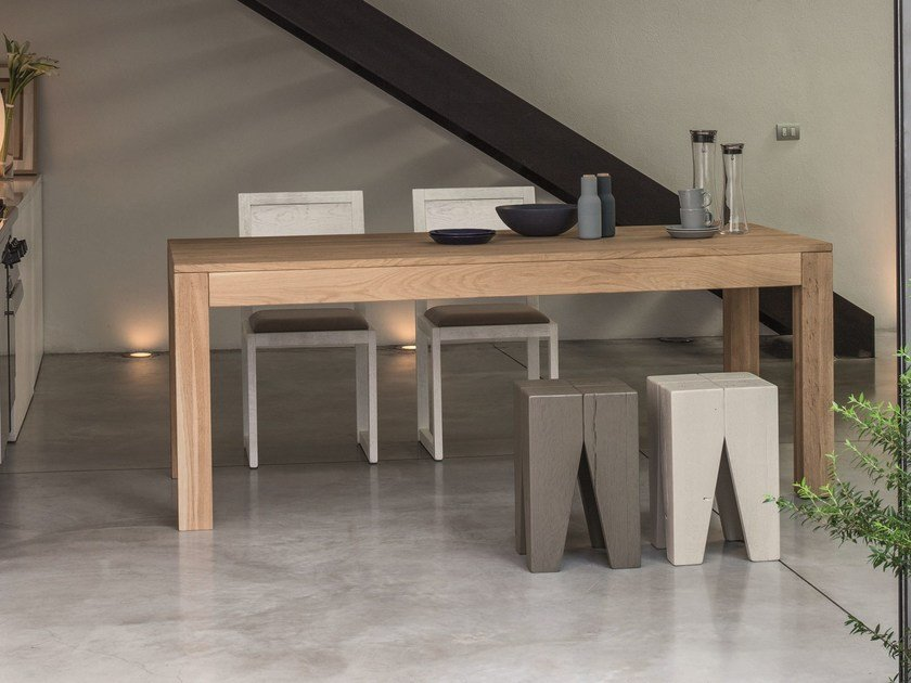 Extending wooden table LOKI | Extending table by Devina Nais