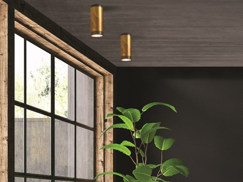 Brass ceiling lamp LOLA 929/75 by Gibas