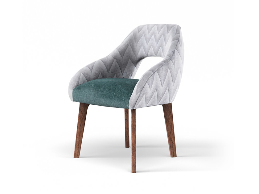 Upholstered fabric chair with armrests LOLA | Chair by Mambo Unlimited Ideas