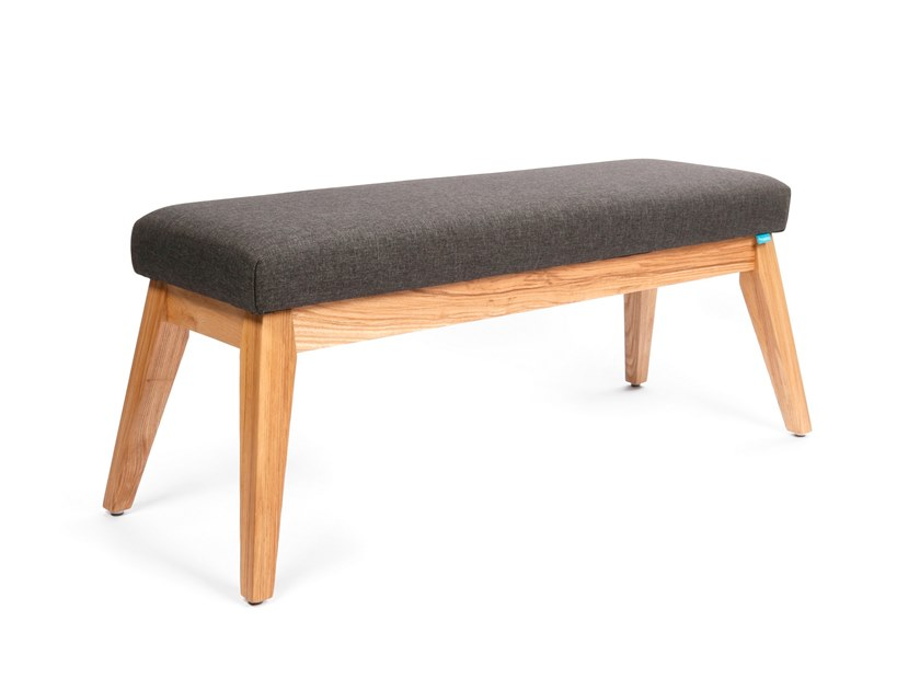 Upholstered fabric bench LOLA by meeloa