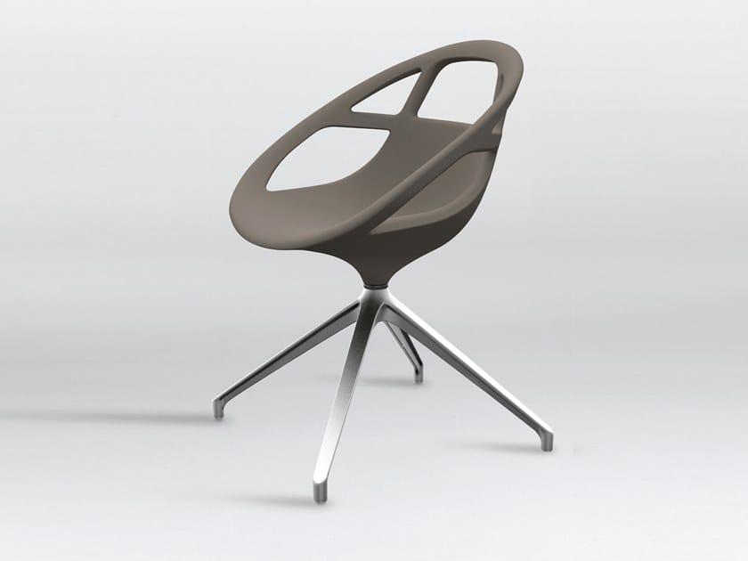 Swivel trestle-based polyurethane chair LOLA SPIDER by Casprini
