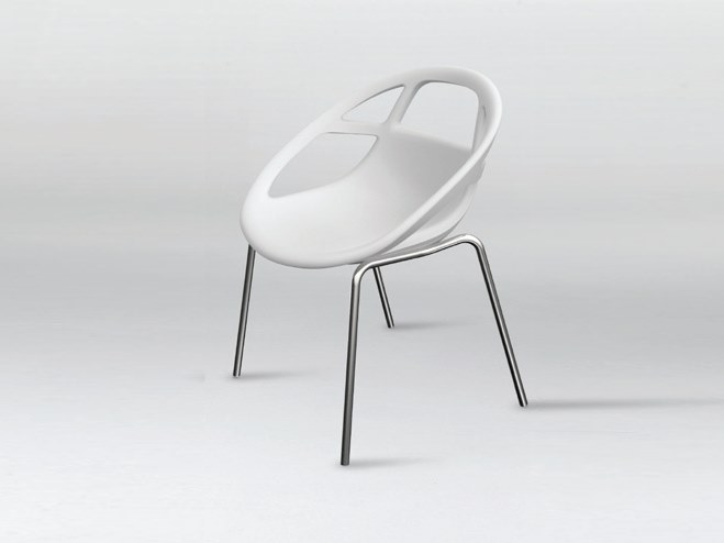 Stackable polyurethane chair LOLA STACKABLE by Casprini