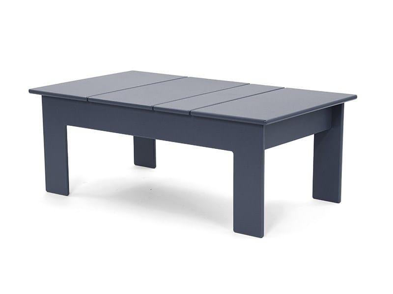 Tavolino in plastica riciclata LOLLYGAGGER | Tavolino rettangolare by Loll Designs
