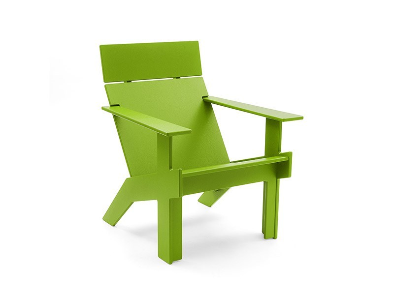 Recycled plastic deck chair LOLLYGAGGER LOUNGE TALL by Loll Designs