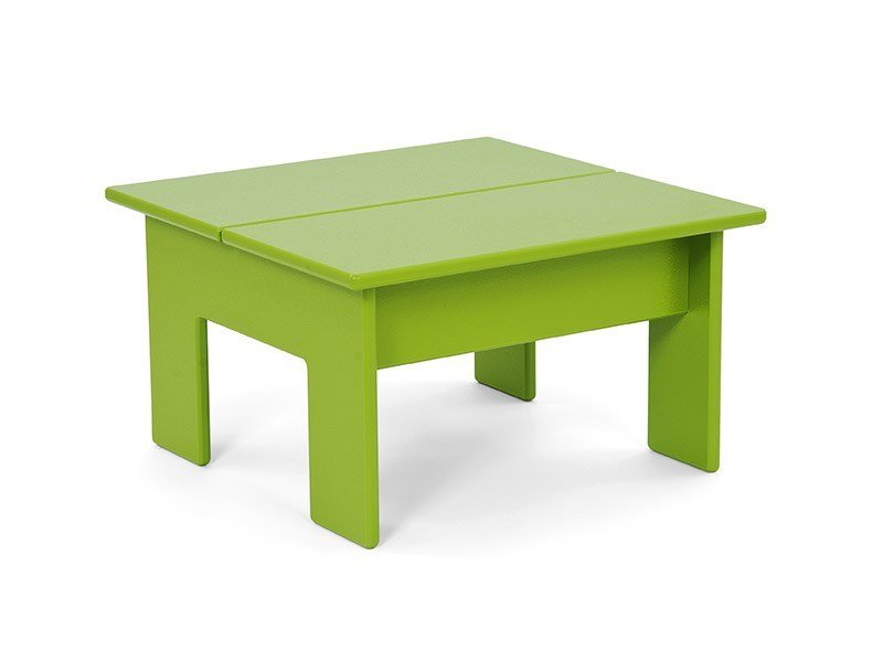 Recycled plastic coffee table LOLLYGAGGER   Square coffee table by Loll Designs