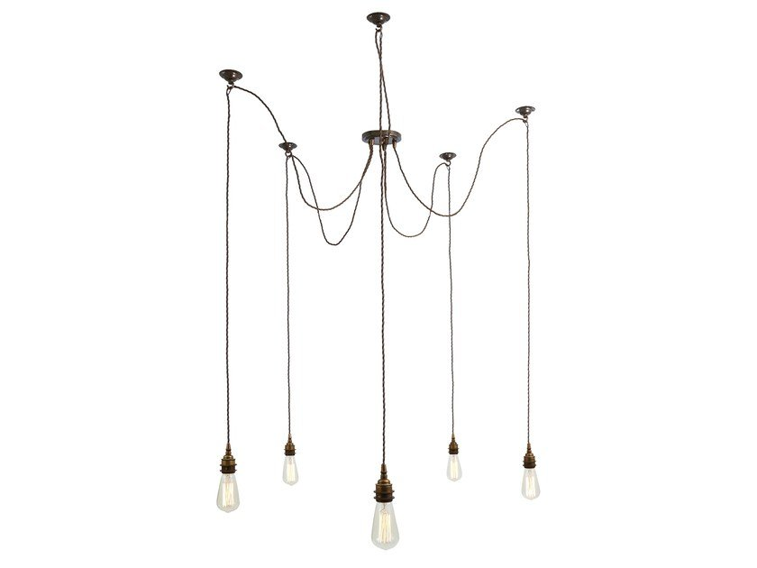 Brass chandelier LOME Cluster by Mullan Lighting