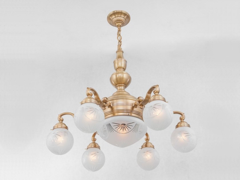 Handmade brass chandelier LONDON | Chandelier by Patinas Lighting